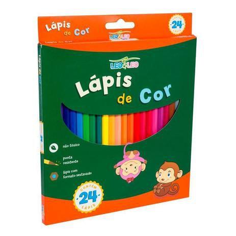 Lápis de Cor 24 cores Leo & Leo