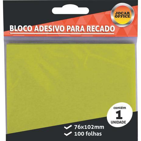 Bloco de Anotação Adesivo 76x102mm Amarelo Leo&Leo