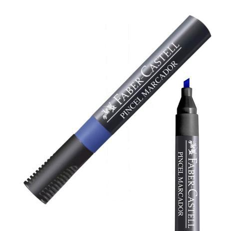 Pincel Marcador Permanente Azul Faber Castell