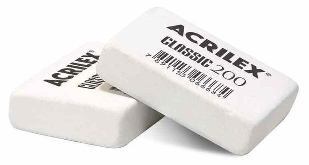 Borracha Escolar Classic 200 Acrilex - Unidade