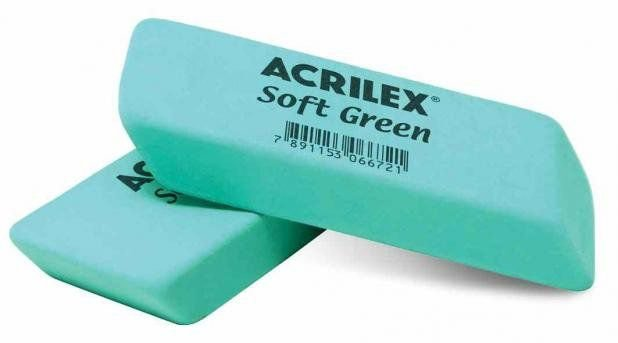 Borracha Escolar Acrilex Verde - Unidade