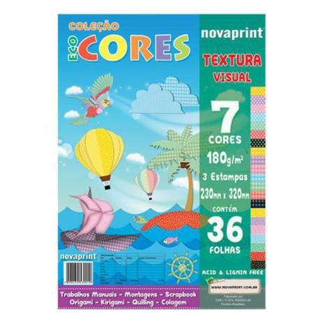 Bloco Eco Cores Textura Visual 36 folhas Novaprint