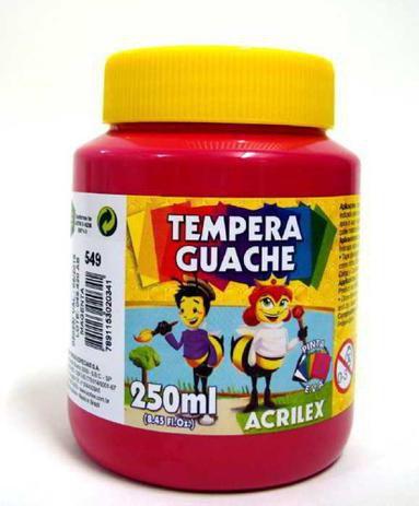 Tinta Guache 250ml Magenta Acrilex