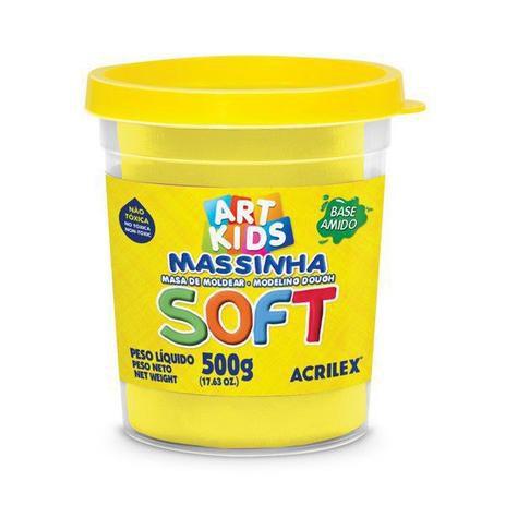 Massinha de Modelar Pote 500g Amarelo Limão 102 Acrilex