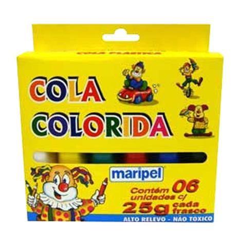 Cola Colorida 6 cores - Maripel