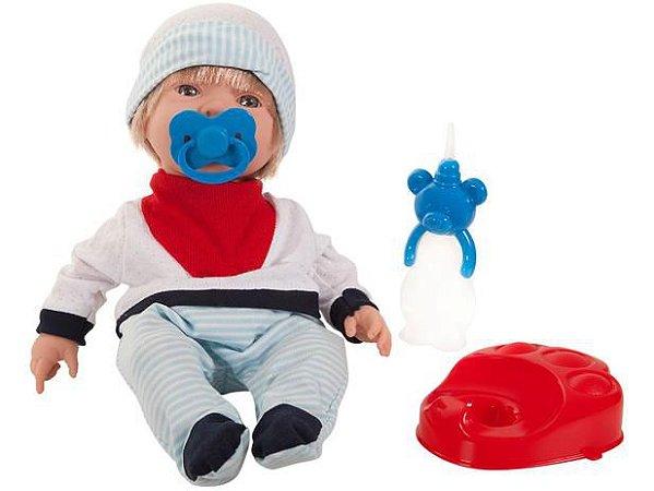 Boneco bebezinho Real Xixi Menino 5684 Roma