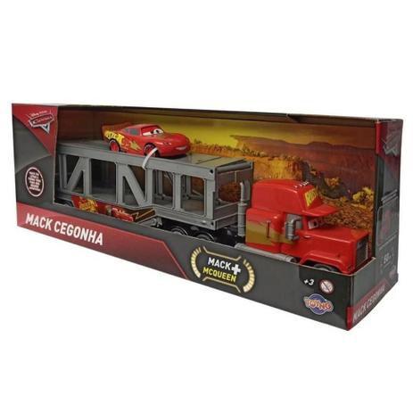 Caminhão Mack Cegonha Fricção e Mcqueen 37806 Toyng