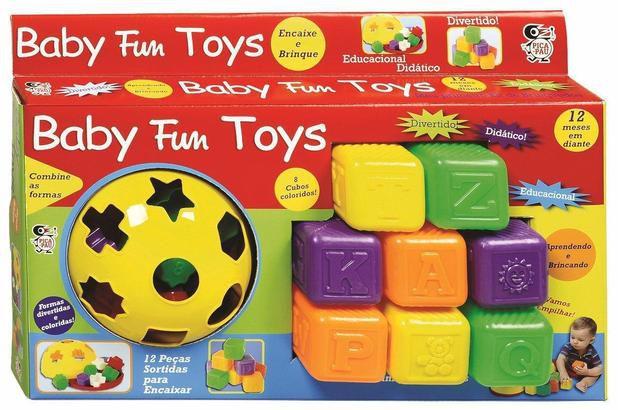 Kit para Bebê Educativo Baby Fun Toys 590 Pica Pau