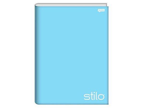 Caderno Brochurão Stilo Pastel 96 folhas Capa Dura Azul - Jandaia