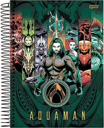 Caderno Universitário 200 folhas Capa Dura Aquaman - Jandaia