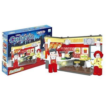 Bloco de Montar Cenário Fast Food 213 peças 11232 Xalingo
