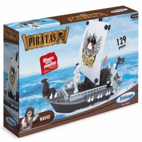 Bloco de Montar Piratas Navio 129 peças  05109 Xalingo