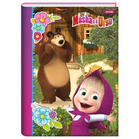 Caderno Brochurão 96 folhas Capa Dura Masha e o Urso - Jandaia