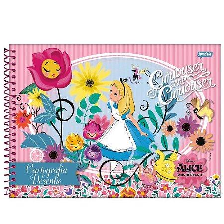 Caderno de Desenho Cartografia 96fls Alice - Jandaia