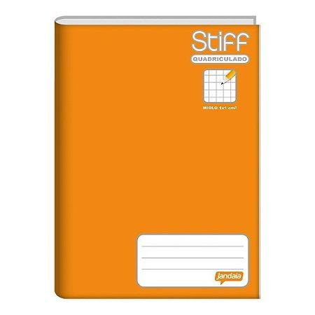 Caderno Quadriculado Brochurão capa Dura 96 folhas 1cm X 1cm Jandaia