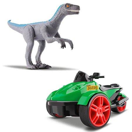 Triciclo com Fricção e Dinossauro Velociraptor 1575 Silmar