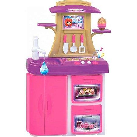 Cozinha Infantil Princesa Meg Rosa e Lilás 8036 Magic toys