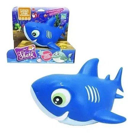 Boneco Vinil Tubarão Family Shark  Azul 215 Cometa