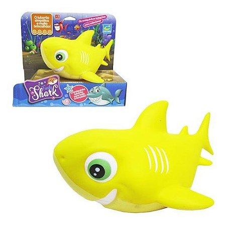 Boneco Vinil Tubarão Family Shark Amarelo 216 Cometa