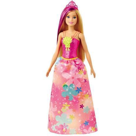 Barbie Princesa Dreamtopia Vestido Flores GJK12/GJK13 Mattel