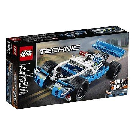 Lego Technic Perseguição Policial 120 peças 42091 Lego
