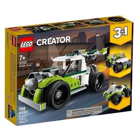 Lego Creator Rocket Truck Caminhão Foguete 198 peças 31103 Lego