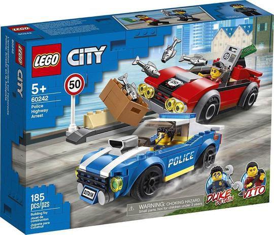 Lego City Police Highway Arrest Detenção Policial 185 peças 60242 Lego