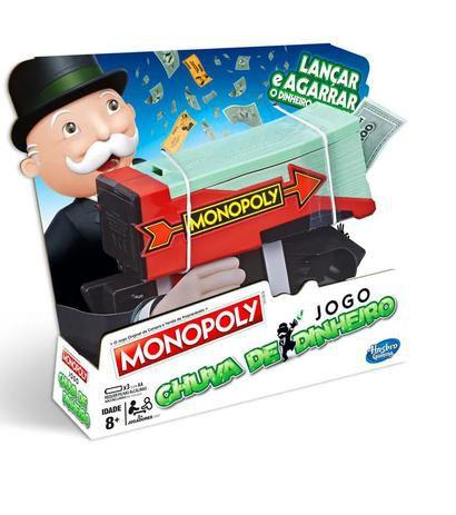 Jogo Monopoly Chuva de Dinheiro E3037 Hasbro
