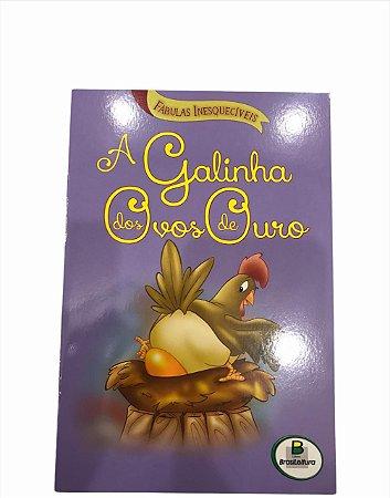Livro de História Infantil Fabulas A Galinha dos Ovos de Ouro