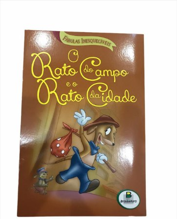 Livro de História Infantil Fabulas O Rato do Campo e o Rato da Cidade