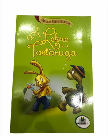 Livro de História Infantil Fabulas A Lebre e a Tartaruga