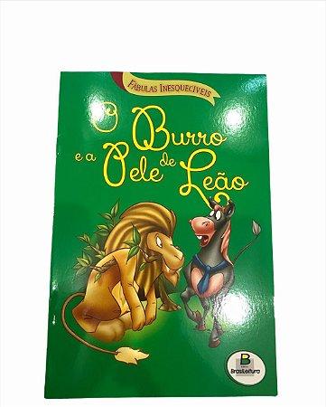 Livro de História Infantil Fabulas O Burro e a Pele de Leão