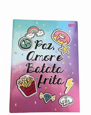 Caderno Brochurão 96 folhas Capa Dura It Girl Jandaia