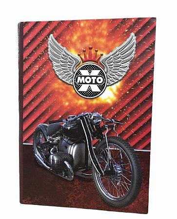 Caderno Brochurão 96 folhas Capa Dura X-Moto Máxima
