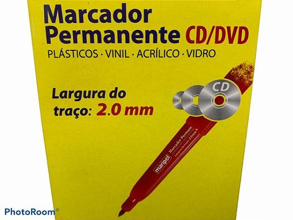 Marcador Permanente CD 2.0mm Vermelho Maripel