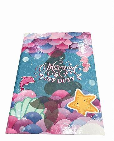 Caderno Brochurão 96 folhas Capa Dura Mermaid Off Duty Máxima