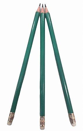 Lápis Preto Verde com Borracha N°2 Leo & Leo