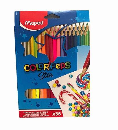 Lápis de cor Color'Peps Star 36 cores Maped