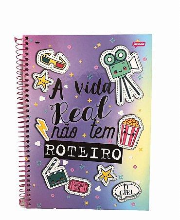 Caderno Universitário 96 folhas Capa Dura It Girl - Jandaia