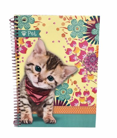 Caderno Universitário 96 folhas Capa Dura Pet - Jandaia