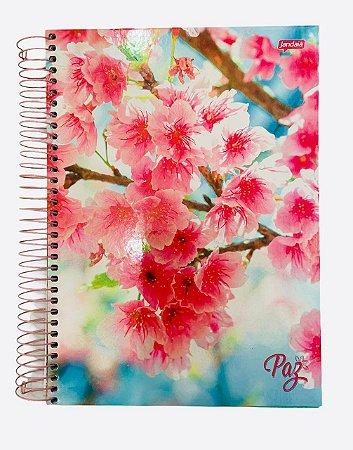 Caderno Universitário 200 folhas Capa Dura Paz - Jandaia