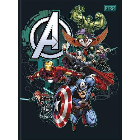 Caderno Brochurão 80 folhas Capa Dura Avengers - Tilibra