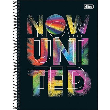 Caderno Universitário 160 Folhas Capa Dura Now United - Tilibra