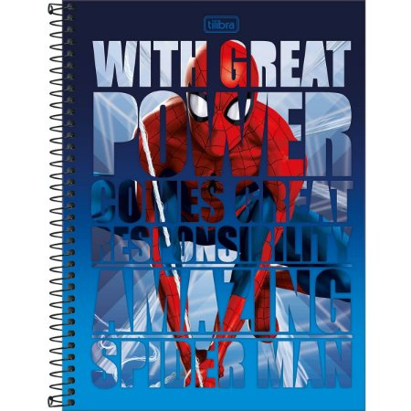 Caderno Universitário 80 folhas Capa Dura Spiderman - Tilibra