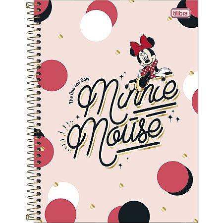 Caderno Universitário 80 folhas Capa Dura Minnie - Tilibra