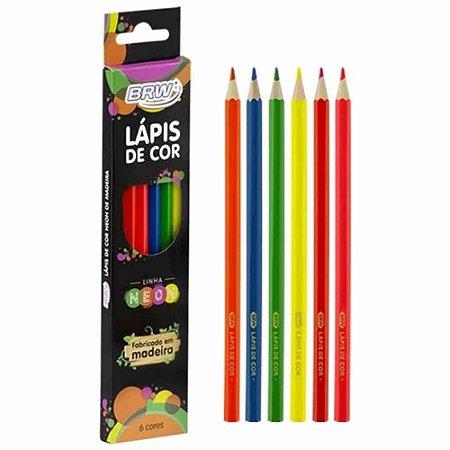 Lápis de Cor 6 cores Neon LP0016 BRW