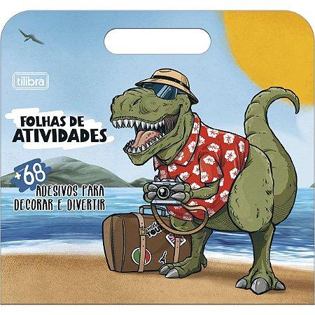 Folhas de Atividades Maleta Dinossauro Raptor com 8 folhas 190x250mm - Tilibra