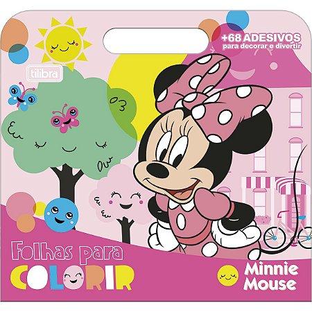 Folhas de Atividades Maleta Minnie Mouse com 8 folhas 190x250mm - Tilibra