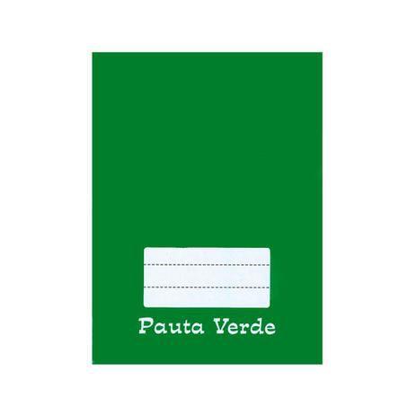 Caderno Brochura 1/4 Capa Dura 48 folhas Pauta Verde Tamoio