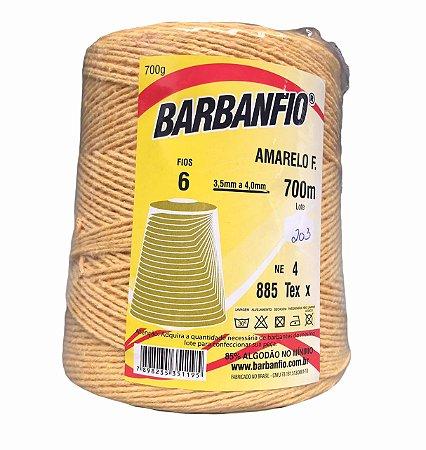 Barbante Barbanfio 6 fios Amarelo Forte 700 Gramas 700 Metros